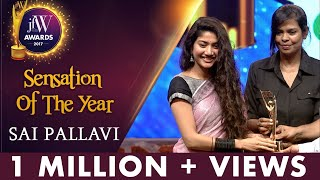 Sai Pallavi at JFW Awards 2017 | Freedom is Important | Sensation Of The Year | JFW Magazine