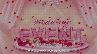 Free Video Background Wedding - 3D Rose Falling 2