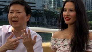 getlinkyoutube.com-Olivia Munn Refuses to Make Out With Host - Ride Along 2 Interview
