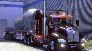getlinkyoutube.com-Euro Truck Simulator 2 - mod Kenworth T660 v2 + new sound caterpillar C15