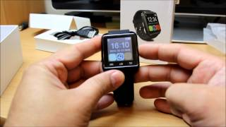 getlinkyoutube.com-UWatch U8 Bluetooth Smart Watch for Android mobile review and how to instal Smart Watch Helper App