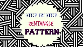 getlinkyoutube.com-How to draw Zen-tangle Patterns - ♥ Step by Step Tutorial ♥