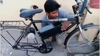 getlinkyoutube.com-How to make electric bike at home part 2
