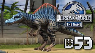 getlinkyoutube.com-NEW Spinosaurus!! || Jurassic World - The Game - Ep 53 HD