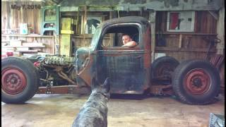 getlinkyoutube.com-1946 ford 1 ton truck Rat Rod Build Video