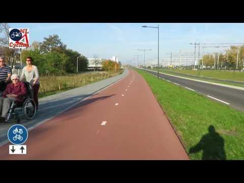 Cycling Magistratenlaan-Parallelweg-Nelson Mandelalaan in 's-Hertogenbosch NL