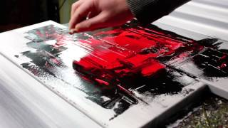 getlinkyoutube.com-Abstract acrylic painting Demo HD Video - Digitalis by John Beckley