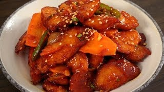 getlinkyoutube.com-Spicy Stir-fried fish cakes (Eomuk-bokkeum: 어묵볶음)