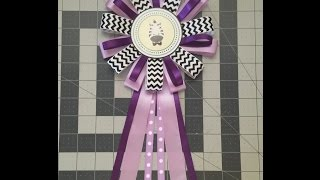 Purple Baby Shower Corsage