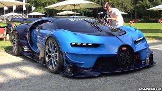 getlinkyoutube.com-Bugatti Vision GT HUGE Exhaust Sounds - LOUD Revs, Driving, Start Up & Loading Into a Truck!