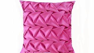 Designer cushion 16 inch .Fabric manipulation technique for pink princess cushion