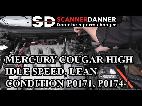 Mercury Cougar high idle speed, lean condition P0171, P0174