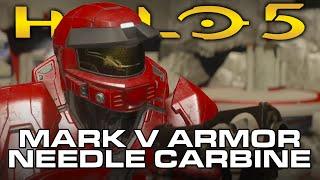 getlinkyoutube.com-Halo 5: Guardians - MARK V Armor, Needle Carbine, New Weapon Skins (NEW January REQs)