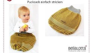 getlinkyoutube.com-Pucksack einfach stricken - für Anfänger