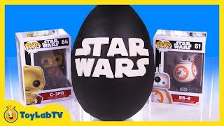 getlinkyoutube.com-GIANT EGG SURPRISE OPENING Star Wars Play Doh Surprise Egg & Toys Kids Video