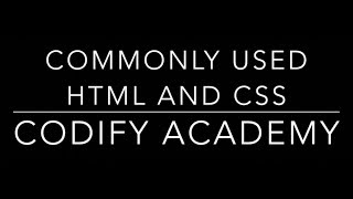 Common HTML and CSS used to build websites