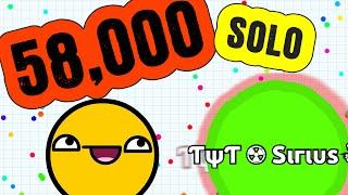 getlinkyoutube.com-58,000 Mass SOLO // Instant Merging Agar.io Gameplay