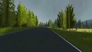 getlinkyoutube.com-3D race track lap 5 (new: grass, tree textures, lighting)
