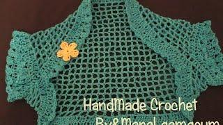 getlinkyoutube.com-بالخطوات طريقة عمل بوليرو كروشيه صيفي لأي مقاس # Handmade crochet