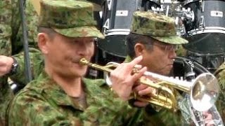 getlinkyoutube.com-Japan Army Bugle Calls 陸上自衛隊 信号ラッパメドレー Japan Ground Self-Defense Force Ranger 中部方面音楽隊 日本陸軍