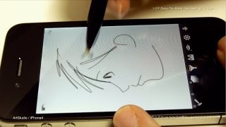 getlinkyoutube.com-iPhone & iPad - DIY Stylus Pen Painting Test Movie