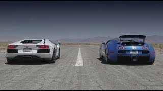Bugatti Veyron vs Lamborghini Aventador vs Lexus LFA vs McLaren MP4-12C - Head 2 Head Episode 8