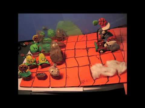 Plants vs Zombies claymation Roof