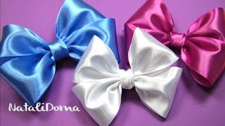 getlinkyoutube.com-How To Make a Hair Bow / Как сделать БАНТ ДЛЯ ВОЛОС /✿ NataliDoma