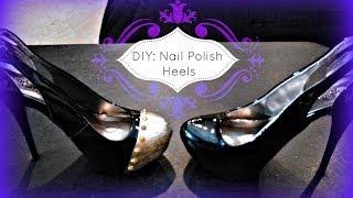 getlinkyoutube.com-FASHION DIY: Shoe Painting Using Nail Polish! High Heels...
