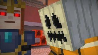 getlinkyoutube.com-WHITE PUMPKIN TO ESCAPE PAMA ?! - Minecraft Story Mode EP7 P2