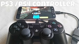 getlinkyoutube.com-Samsung Galaxy S6 Gaming  With PS3 CONTROLLER