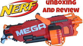 getlinkyoutube.com-Nerf N-Strike MEGA Mastodon Unboxing and Review