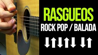 RASGUEOS De Guitarra ROCK POP/BALADA | APRENDE GUITARRA #16