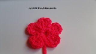 getlinkyoutube.com-Tutorial flor fácil de crochet de 5 pétalos en 5 minutos