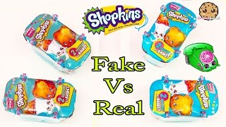 getlinkyoutube.com-Fake Vs Real - 4 Shopkins Season 3 Surprise Blind Bag Packs Toy Unboxing Cookieswirlc Video