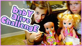 getlinkyoutube.com-👶BABY ALIVE CHALLENGE WITH GROSS FOOD 👶AND SNAPCHATS   SMELLY BELLY TV
