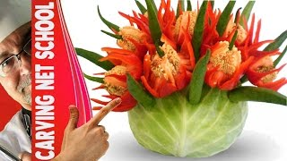getlinkyoutube.com-♛ Lesson 7, Fruit & veg Carving, Escultura em frutas e legumes, การแกะสลักผลไม้, 水果雕刻, Ukiran buah