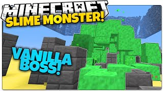 getlinkyoutube.com-SLIME BOSS IN VANILLA MINECRAFT! | Sludge Monster That Chases You (Minecraft Vanilla Mod)