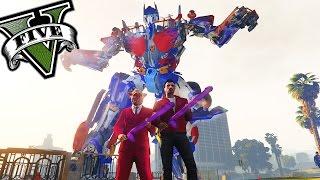 getlinkyoutube.com-GTA V Online - OPTIMUS PRIME!! y RAMPA DE PORTAAVIONES!!! - GTA 5 MODS - NexxuzHD