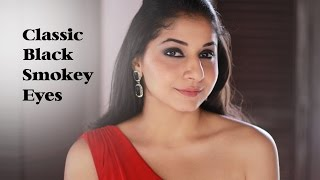 getlinkyoutube.com-Classic Black Smokey Eyes | Indian Skin tone