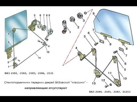 Замена стеклоподъемника на ваз нива (жигулях классике).