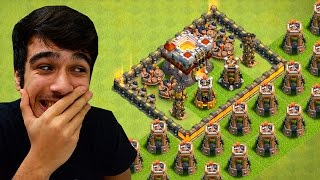 getlinkyoutube.com-TROLLEI!! LAYOUT TROLL DA TORRE DE BOMBAS - CLASH OF CLANS
