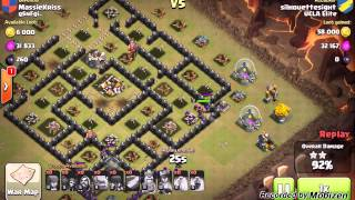 getlinkyoutube.com-Clash of Clans:  GoWiWi TH9 3 Star War Strategy (Part 1 of 3)