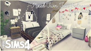 getlinkyoutube.com-The Sims 4: Room Build | Mixed-Twin Teen Bedroom