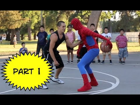 Spiderman Plays Basketball.... Amazing Spiderman