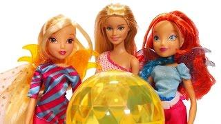 getlinkyoutube.com-Winx Club'tan Stella ve Bloom'un Sihirli Küresi Barbie'ye Emanet!