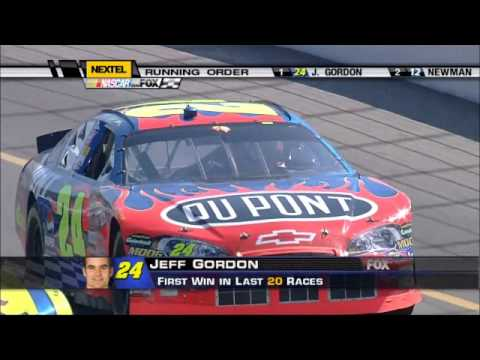 Jeff Gordon Career Win #74 2006 Dodge / Save Mart 350 At Infenion Finish
