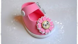 tutorial scarpetta portaconfetti bimbo/tutorial shoes for children