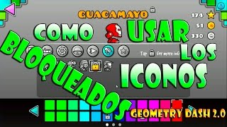 getlinkyoutube.com-COMO USAR LOS ICONOS BLOQUEADOS GEOMETRY DASH 2.0 PC | (PlayforFun)
