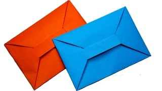 getlinkyoutube.com-DIY - Easy origami envelope tutorial